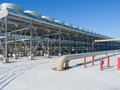Geothermal power plant powered electric generating Stock Photo