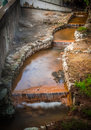 Geothermal water stream Royalty Free Stock Photo
