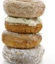Gepoederd sugar crusty donuts Royalty-vrije Stock Foto