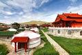 The ger camp at Ulaanbaatar , Mongolia Royalty Free Stock Photo