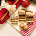 Gerbeaud traditional hungarian cake christmas zserbó Stock Photo