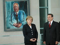 Gerhard Schroeder, Angela Merkel Royalty Free Stock Photo
