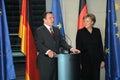 Gerhard Schroeder, Antgela Merkel Royalty Free Stock Photo