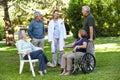 Geriatric nurse with senior group Royalty Free Stock Photos