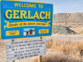 Gerlach nevada on the edge of the black rock desert Stock Photos
