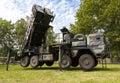 German antiaircraftrocketsystem patriot in attack position Royalty Free Stock Photo