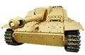 German assault gun sd kfz stug iii sturmhaubitze stuh ausf g isolated white background Stock Photo
