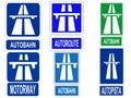 German Autobahn sign Royalty Free Stock Photo