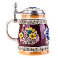 German beer mug a or austrian isolated over a white background Royalty Free Stock Photography