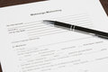 German blank tenancy agreement a with a pen Stock Images