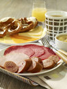 German breakfast Stock Photos