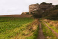 German bunker in normandy france second war Stock Photography