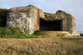 German bunker in normandy france second war Stock Images