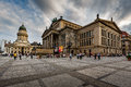 German Cathedral and Concert Hall on Gendarmenmarkt Square in Be Royalty Free Stock Photo