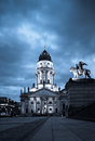 German cathedral on gendarmenmarkt new church deutscher dom or in the evening Royalty Free Stock Image