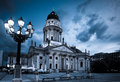 German cathedral on gendarmenmarkt new church deutscher dom or in the evening Stock Photo