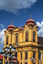German cathedral in union square timisoara romania Royalty Free Stock Photo