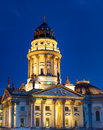 The german church in berlin at gendarmenmarkt at night Royalty Free Stock Images