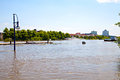 German city at flooding in magdeburg germany june Royalty Free Stock Photo
