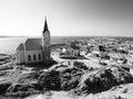 German colonial church in namibian Luderitz