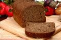 German Dark Wheat Bread Stock Image