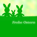 German easter card frohe ostern happy easter with an bunny Stock Photos