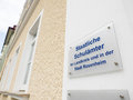 German education authority in rosenheim with copy space to the left Royalty Free Stock Photo