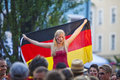 German fans at public viewing Stock Photography