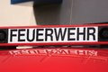 German firebrigade feuerwehr while the state wide fire service action week in september the fire department shows their equipement Royalty Free Stock Photography