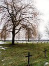 German first world war military cemetery at vermandovillers fra france january black crosses in in germany Stock Photo