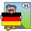 The German Flag Stock Image