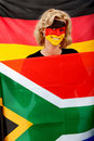 German flag portrait Stock Photo