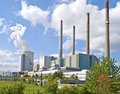 German Fossil-fuel power station Royalty Free Stock Image