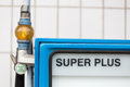 German gas station super unleaded a with Royalty Free Stock Image