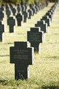 German Gravestones in a Row Royalty Free Stock Photos