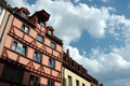 German half-timbered houses in Nuremberg Royalty Free Stock Image