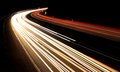 German highway by night Stock Images