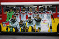 German national soccer team july berlin a double decker bus with portraits of the players impressions from the fanmeile on the Stock Image