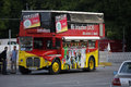 German national soccer team july berlin a double decker bus with portraits of the players impressions from the fanmeile on the Royalty Free Stock Photo