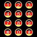 German numbers icons Stock Photo