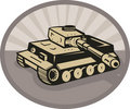 German panzer battle tank Royalty Free Stock Photo