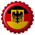 German popular flag over bottle cap Royalty Free Stock Photo