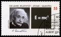 German Postage Stamp with Portrait of Albert Einstein