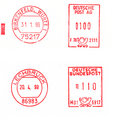 German Postage stamps Royalty Free Stock Image