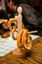 German pretzels in bavarian restaurant Royalty Free Stock Photos