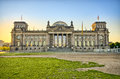 German Reichstag building during the sunrise, Berlin, Germany Royalty Free Stock Photo