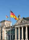 German reichstag on a sunny day Royalty Free Stock Photos