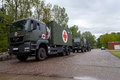 German rescue center system on trucks stands on plate munster germany may may in munster germany Stock Photo