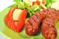 German sausage Royalty Free Stock Image