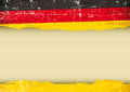 German scratched flag Royalty Free Stock Photo